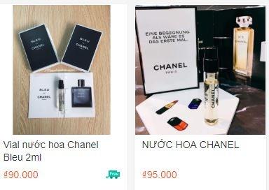 Nuoc hoa Chanel, giay Nike gia beo tren Lazada, Sendo, Shopee hinh anh