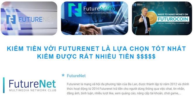 FutureNet kinh doanh tien ao da cap trai phep tren mang hinh anh 1