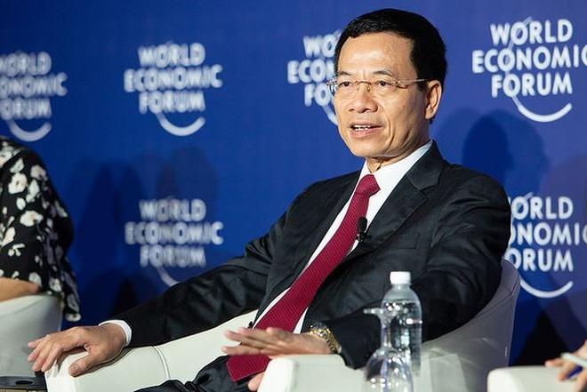 Bo truong Nguyen Manh Hung phat bieu bang tieng Anh o WEF ASEAN 2018 hinh anh