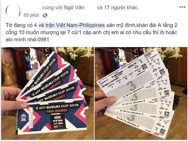 Ve tran Viet Nam vs Philippines tren mang duoc het gia gap hon 10 lan hinh anh 2