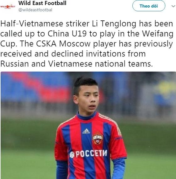Cau thu goc Viet chon khoac ao doi U19 Trung Quoc hinh anh 2