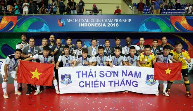 CLB Thai Son Nam rang ngoi nhan danh hieu a quan futsal chau A 2018 hinh anh