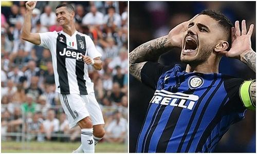 Quen Ronaldo - Messi di, Ronaldo - Icardi cung rat dang xem hinh anh