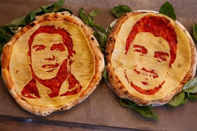 Den Nga mua World Cup: Thuong thuc pizza in hinh Ronaldo va Suarez hinh anh 2