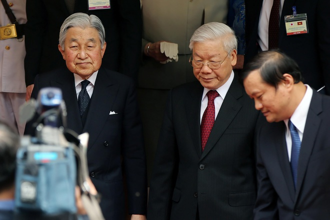 Tong bi thu Nguyen Phu Trong gui thu toi Thuong hoang Nhat Ban Akihito hinh anh 1
