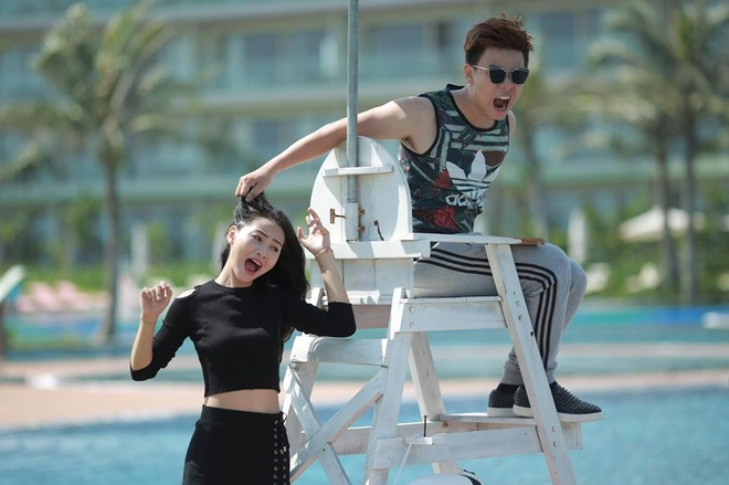 MC Mu Tat lam clip ke chuyen tinh yeu voi Tran Anh Huy hinh anh 3