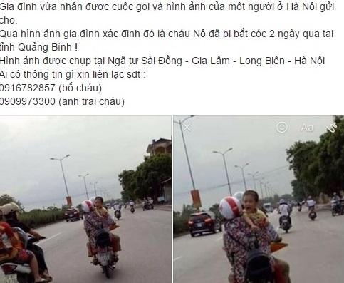 Treo thuong cho ai tim thay be trai 6 tuoi mat tich o Quang Binh hinh anh 3