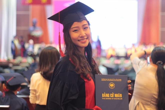 A khoi DH Kinh te TP.HCM lot top 45 Hoa hau Hoan vu la ai? hinh anh 5
