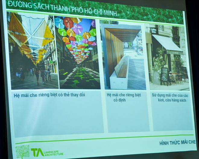 'Duong sach se thuc su la noi ton vinh van hoa doc' hinh anh 3 Mô hình thiết kế đường sách Nguyễn Văn Bình.