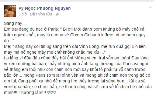 Phuong Vy ke chuyen em trai thoat khoi vu khung bo o Paris hinh anh 2