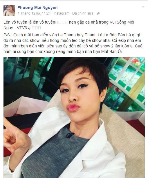 La Thanh bi Phuong Mai keu goi tay chay hinh anh 1