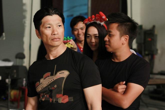 Minh Hang tinh nghich ben Quy Binh tren truong quay hinh anh 7