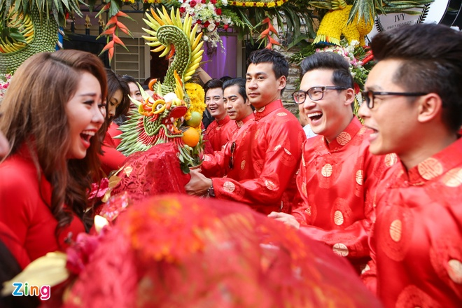 Khoanh khac tinh nghich trong le cuoi Luong The Thanh hinh anh 8