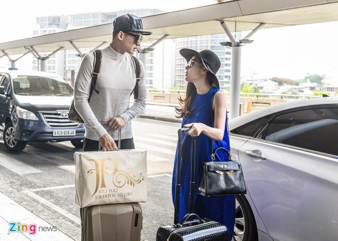 Luong The Thanh cham soc Thuy Diem o san bay hinh anh 2