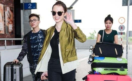 Angela Phuong Trinh mang 5 vali do di du LHP Cannes hinh anh