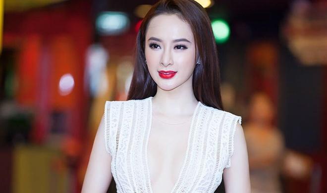 Angela Phuong Trinh mac dam khoet nguc sau di casting phim hinh anh