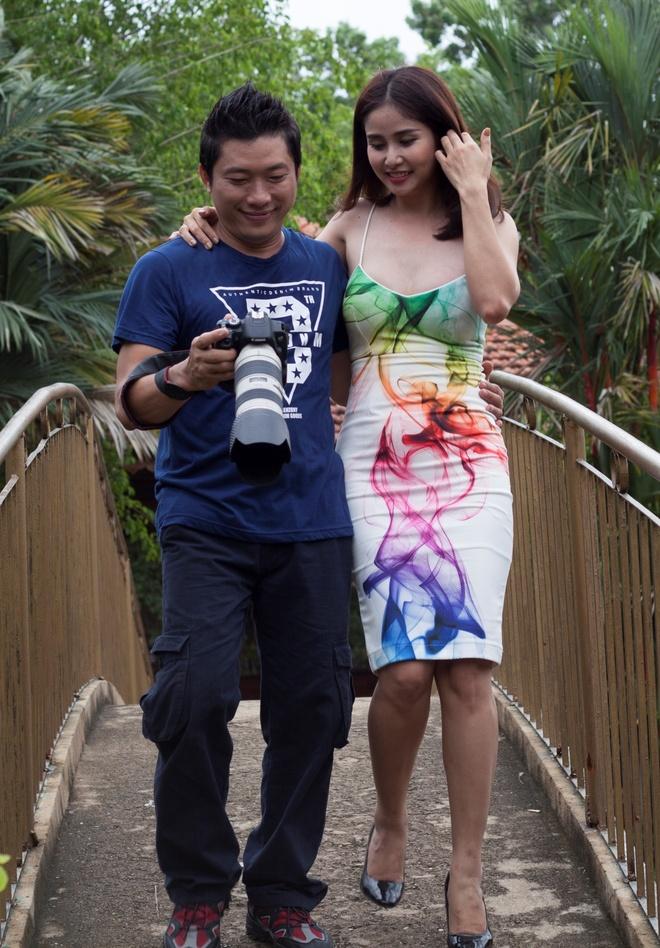 Thao Trang tinh cam ben Kinh Quoc tren truong quay hinh anh 1
