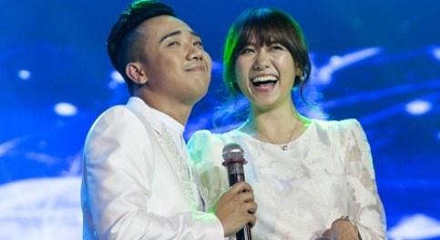 Hari Won tinh tu song ca voi Tran Thanh trong live show hinh anh