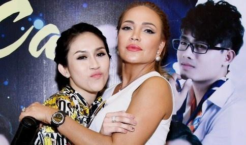 Thanh Ha gian di den ung ho dan em lam show Bolero hinh anh