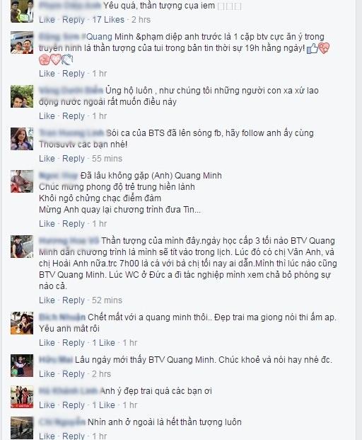 BTV Thoi su Quang Minh lan dau xuat hien tren Facebook hinh anh 2