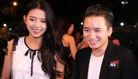 Phan Manh Quynh dua nguoi yeu di ra mat phim hinh anh