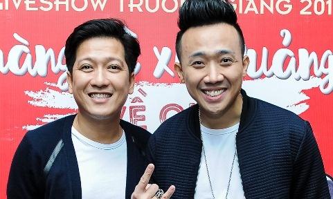 Tran Thanh den chuc mung Truong Giang to chuc live show hinh anh