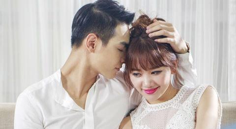 Hari Won tinh tu voi ban trai Chung Huyen Thanh trong MV hinh anh