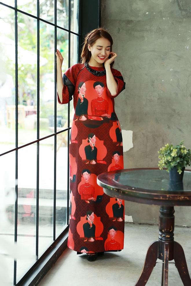 Nha Phuong man ma voi ao dai don Tet Nguyen dan hinh anh 3
