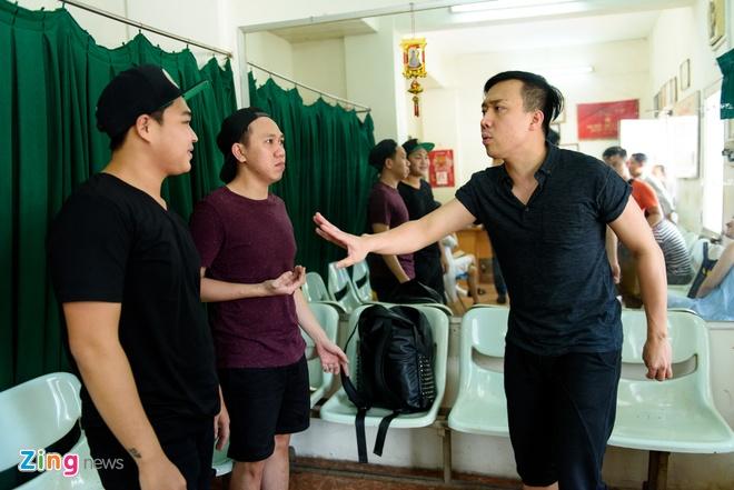 Hoai Linh di tap kich cung Truong Giang anh 9
