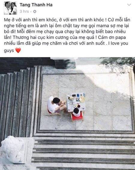 Tang Thanh Ha sinh con gai anh 1