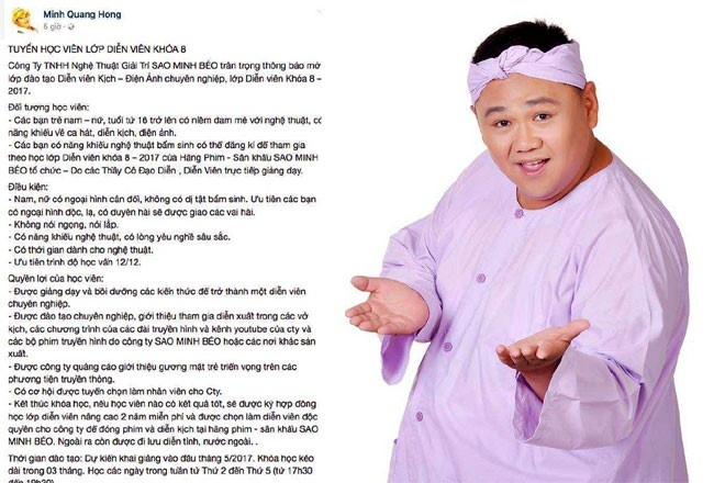Minh Beo tuyen sinh dien vien anh 1