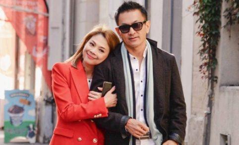 Thanh Thao va ban trai Viet kieu di du lich chau Au hinh anh