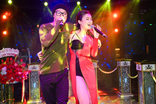 Lam Truong den chuc mung chau gai ra mat MV moi hinh anh 7