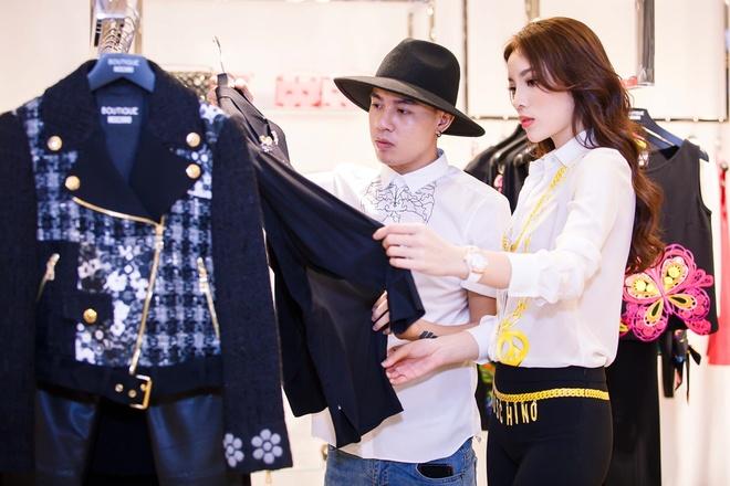 Hoa hau Ky Duyen chuan bi do hieu du Milan Fashion Week hinh anh 2