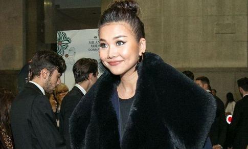 Thanh Hang sang trong ngoi hang ghe dau o Milan Fashion Week hinh anh