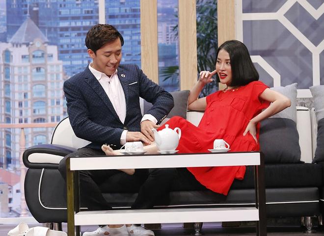 Tran Thanh than thiet voi tinh cu Mai Ho o game show hinh anh 2