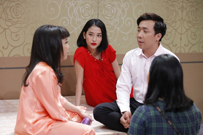 Tran Thanh than thiet voi tinh cu Mai Ho o game show hinh anh 1