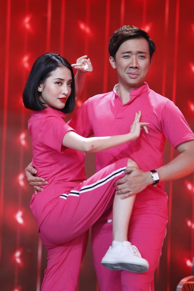 Tran Thanh than thiet voi tinh cu Mai Ho o game show hinh anh 3