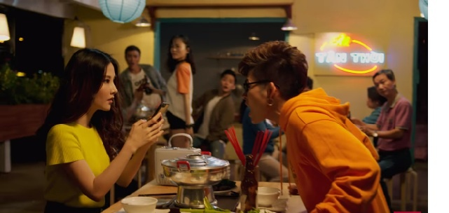 Jun Pham phan no voi Diem My 9X trong MV anh 2