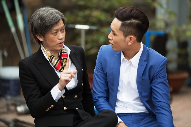 Than Thuy Ha ap luc khi dong hai voi Hoai Linh trong phim Tet hinh anh 1