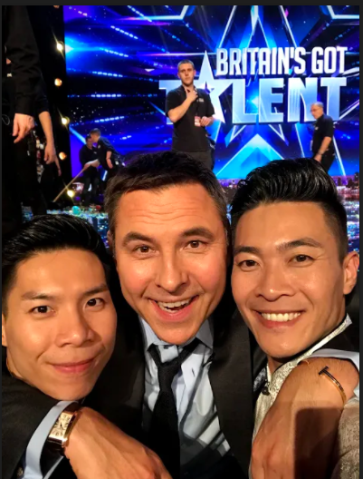 Quoc Co, Quoc Nghiep duoc 4 HLV chon khi thi Britain's Got Talent hinh anh 2