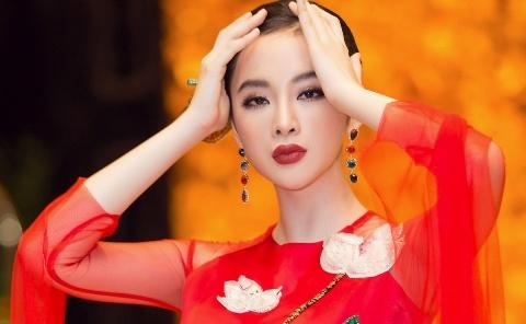 Angela Phuong Trinh dien ao dai dinh da quy o Le hoi ao dai 2018 hinh anh