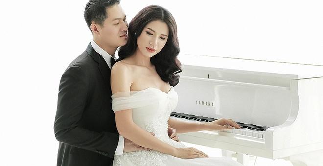 Trang Tran khoe anh cuoi lang man ben ong xa Viet kieu hinh anh