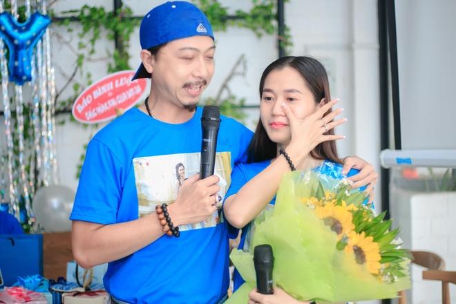 Lam Vy Da bat khoc khi Hua Minh Dat quy goi cau hon hinh anh 2