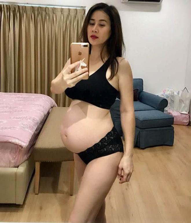 Than Thuy Ha mang thai lan hai o tuoi 40 sau 8 nam lam me don than hinh anh 1