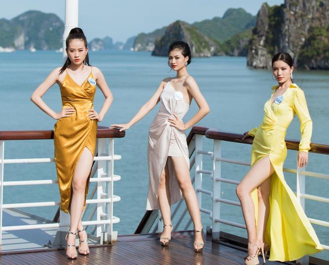 Nguoi dep Hoa hau The gioi Viet Nam 2019 tao dang tren du thuyen 5 sao hinh anh 3