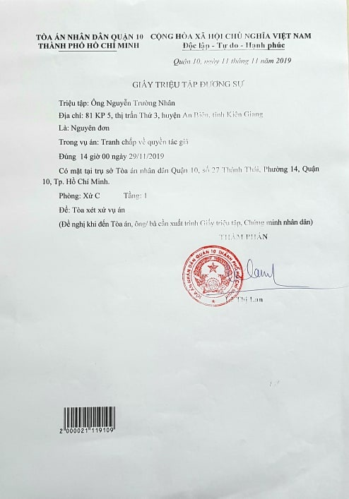 Vu nhac si kien Dam Vinh Hung sap duoc toa xet xu hinh anh 2