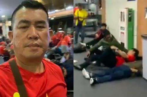 Nhat Cuong, Ly Hung va 300 CDV va vat suot dem o san bay Philippines hinh anh