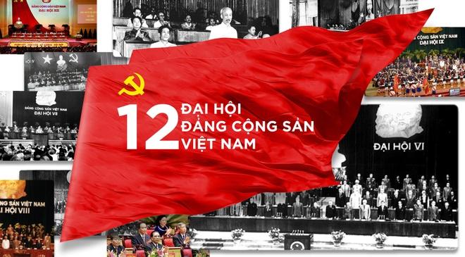Infographic 12 ky Dai hoi Dang Cong san Viet Nam hinh anh