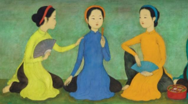 Tranh Viet xuat hien o at tai dau gia Sotheby's hinh anh